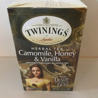 Disney Beauty & the Beast Camomile Honey Vanilla Twinings 20 Tea Bags New Box