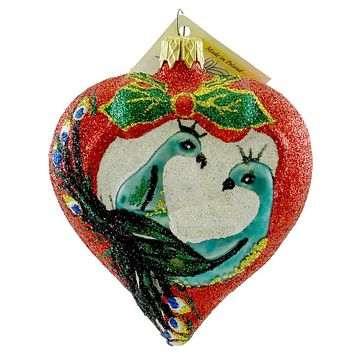 Larry Fraga Passionate Heart Glass Ornament