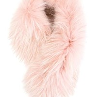 Mr & Mrs Italy Raccoon Fur Collar - Feathers - Farfetch.com