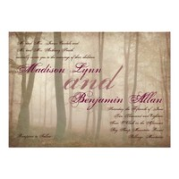 Rustic Forest Fall Autumn Country Wedding Invites