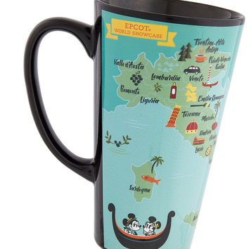 Disney Parks Epcot Italy Mickey & Minnie Map Latte Mug New