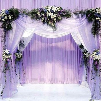 2015 0.75*10m Wedding Decoration Organza Silk Flower Heart Shaped Arches Sheer Crystal Organza Fabric Flower Door 6z Hd048 = 1932843460