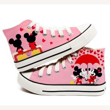 Canvas Shoes Woman 2017 Summer Fashion Hand Painted High-top Canvas Shoes Girls Cartoon Anime Casual Board Shoe Zaspatos Mujer
