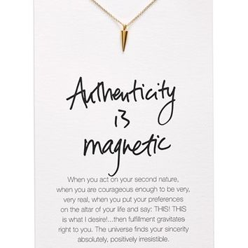 Women's Dogeared 'Danielle LaPorte Truthbombs - Authenticity is Magnetic' Necklace