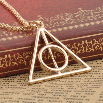 Harry Potter Deathly Hallows Triangle Pendant