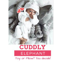 Baby Elephant Huge Stuffed Animal Toy Nursery Pillow Plush Soft Toy Grey Cute Cuddly Children Kid Infant Appease Baby Shower Gift Decoration
