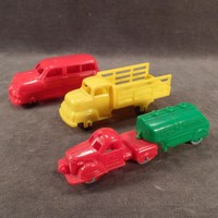 Vintage Plastic Toys – 3 Old Banner Vehicles – Station Wagon Car and 2 Trucks