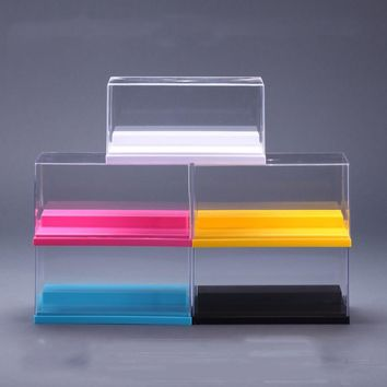 5 Colors Dustproof Protection Showcase Clear UV Acrylic Plastic Display Box Case Building The Action Figures Doll Toys House