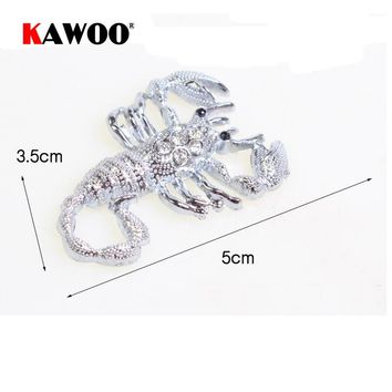 KAWOO Car-Styling 3D Metal Scorpion Car Sticker Decoration Auto Motorcycle Decals Free Shipping 5*3.5cm