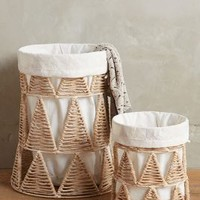 Woven-Wedge Baskets by Anthropologie in Natural Size: Set Of 2 Wedges