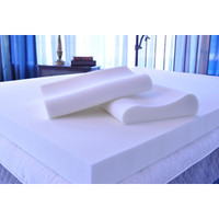 Serta 4-inch Memory Foam Mattress Topper with Contour Pillows | Overstock.com