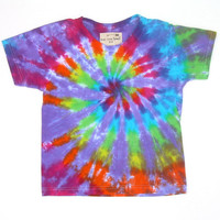 CLEARANCE: Child Small/ Tie Dye Shirt/ Rainbow Spiral with Lavender