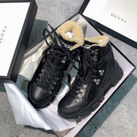 GUCCI Flashtrek GG high-top sneaker with wool