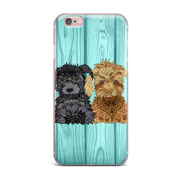 """Art Love Passion """"Daisy and Gatsby"""" Abstract Puppies iPhone Case"""