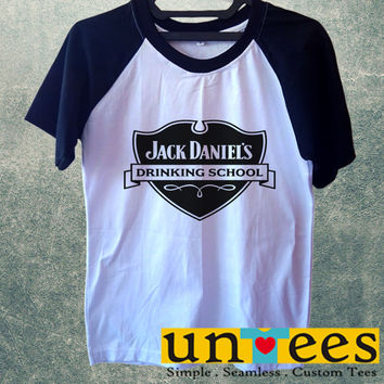 Jack Daniels Drinking School Short Raglan Sleeves T-shirt