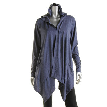 Essentials Womens Long Sleeves Open Front Cardigan Top