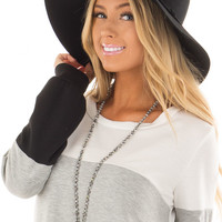 Black Wool Felt Western Hat with Side Tie Detail