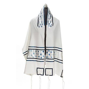 Celestial Stars of David Viscose with tallit set