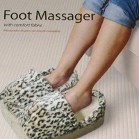 Spa Foot Massager Leopard Micro Fabric Cushion Massage