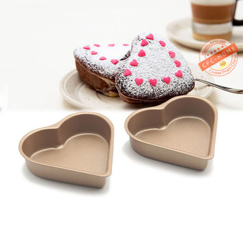 Heart-shaped Mini Pie Pan Muffin Cupcake Molds Tins - NonStick bakeware