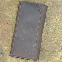 fashion vintage handmade genuine leather long wallet cool gift 33