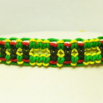 Rasta Hemp Bracelet or Anklet 2 handmade jewelry custom welcome macrame unisex girls womens