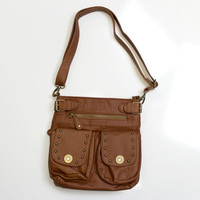 Luckless Clothing Co | Bullet Accent Concealed Carry Purse ( Brown )