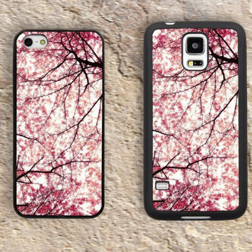 Cherry blossom cover iPhone Case-Pink Tree iPhone 5/5S Case,iPhone 4/4S Case,iPhone 5c Cases,Iphone 6 case,iPhone 6 plus cases,Samsung Galaxy S3/S4/S5-204