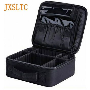 JXSLTC Neceser Professional Vanity Cosmetic bag Organizer women Travel Make up Cases big Capacity Cosmetics Suitcases for makeup
