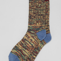 Tri-Marled Tip Camp Sock - Urban Outfitters