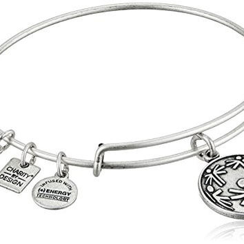 Alex and Ani Charity By Design Power of Unity Rafaelian Silver Bangle Bracelet