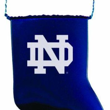 University of Notre Dame - Chirstmas Holiday Stocking Ornament - Blue
