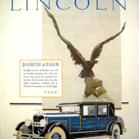 LINCOLN advertising, original art deco advertisement, vinatge poster, French magazine 1927, car poster