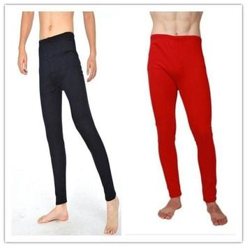 Free Shipping Winter Warm Men mirco velvet leggings Warm Pants Long Johns Plus Size Warm Underwear thermal pants 6XL Trousers