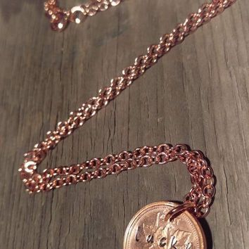 Lucky Penny Copper Necklace