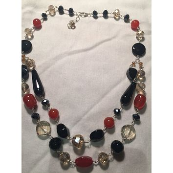 Nemesis hand wrapped pearl 2 strand necklace