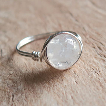 Big Ice Quartz Ring - unique ring - cute ring