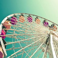 Ferris Wheel Photography - Atmospheric Leap -Santa Monica Pier
