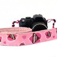 Pink Camera Strap. dSLR Camera Strap. Women accessories