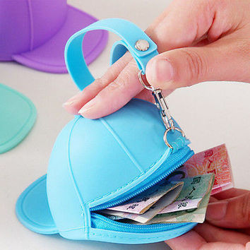 Cute Women Purse Hat Silicone Waterproof Wallet Pouch Coin Bag Xmas Gift New BDA