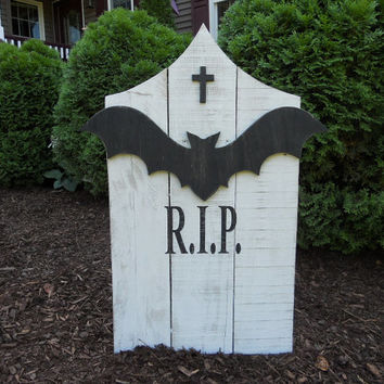 Ready To Ship! Halloween Tombstone, Halloween Graveyard, Headstone, Halloween Yard Decor, Tombstone,Outdoor Yard Art, R.I.P Tombstone, RIP