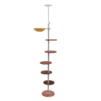 "Pawhut 104"" Floor-to-Ceiling Adjustable Spiral Climbing Cat Tree Tower"
