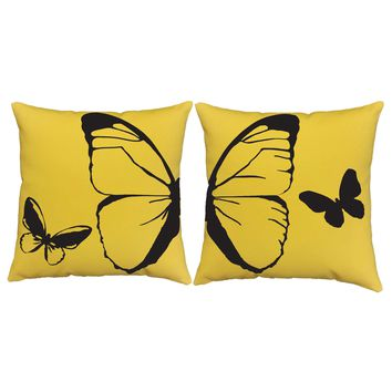 Simple Butterfly Throw Pillows