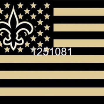 NFL New Orleans Saints Flag 3' x 5' Stars & Stripes Banner