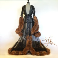 Deluxe Faux Fox Cassandra Dressing Gown