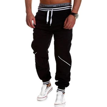 Mens Joggers Pantalon 2017 Male Brand Men Pants Hit Color Stitching  Sweatpants Jogger Pantalones 2XL TUHBNE