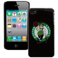 Boston Celtics iPhone 4 and 4S Case: Black Shell