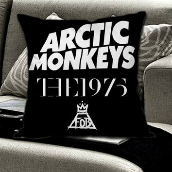 Arctic Monkeys the 1975 The Fall Out Boy on Pillow cover by FamilyGrayDesign