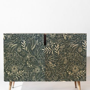 Heather Dutton Botanical Sketchbook Midnight Credenza
