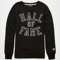 Hall Of Fame Harlem Mens Reflective Sweatshirt Black  In Sizes